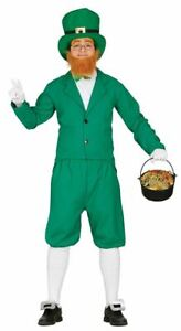 Mens Leprechaun St Patrick's Day Irish Ireland Fancy Dress Costume Adults Outfit