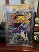X Factor 24 Cgc 9.6  White Pages Signed By Stan Lee First Arch Angel
