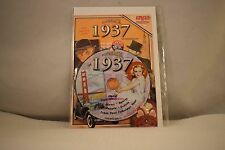 Flickback Greeting or Birthday Card With DVD  For Those Born in 1937    (v417)