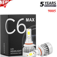 2pcs C6 CREE 9005 HB3 LED Headlight 1850W 210000LM High Beam Bulb White 6000K