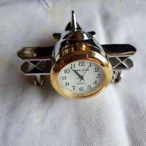 Novelty Gift Miniature Park Lane Quartz Aeroplane Clock