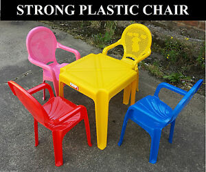 Kids Set of Childrens Kids Plastic Table and Chairs Nursery Sets Outdoor New
