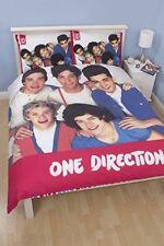 ONE DIRECTION CRAZE PANEL DOUBLE BED DUVET QUILT COVER SET CHILDREN