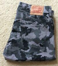 Mens Levis 511 grey camoflauge regular fit denim mid rise jeans W 36 L 32