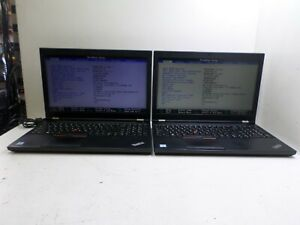 "LOT OF 2 LENOVO THINKPAD P50 15.6"" QUAD-CORE i7-6700HQ 16GB NVIDIA NO HDD T6-B6"