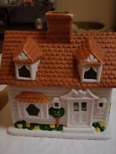 Partylite porcelain house tealight candle holder