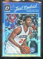 Joel Embiid 2016-17 Donruss Optic basketball card silver holo prizm #1 NM 76ers