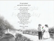 To My Husband and Best Friend...Love.Sentimental Matted Print Gift 11 x 14 1209