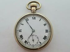Antique 1905 Record Swiss Gold Plated  Pocket Watch 16S   Working Rare