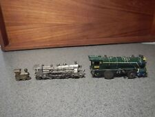 TIN LITHO STEAM ENGINE WIND-UP TOY TRAIN, MONOPOLY TRAIN TOKEN + 1 MORE VINTAGE