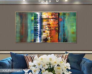Vnartist / ORIGINAL 120cm x 60cm Abstrakt Gemälde Modern XXL Bilder 1592