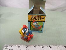 Super Smurf Figure box Vintage Toy Schleich Rocking-chair Papa Smurf Pipe Peyo