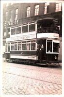 Original real photograph Bradford 112 tram tramcar circa 1940 vintage