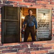 "Evil Dead Printed Box Canvas A1.30""x20""- Deep 30mm Frame Bruce Campbell. Ash"