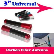"""3"""" Stubby Carbon Fiber Aluminum Short Antenna Red Screws For Ford"""