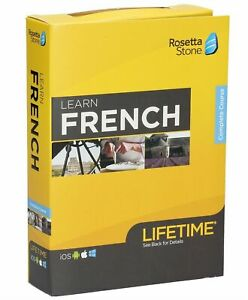 Rosetta Stone: Learn FRENCH with Lifetime Access - NEW SEALED - Complete Course