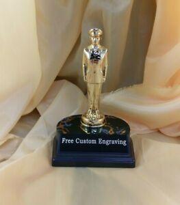 Metal Soldier Trophy. Free Custom Engraving.