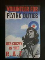 FLYING DUTIES BOOKLET , WARTIME R.A.F. RECRUITMENT   , HISTORY WORLD WAR II