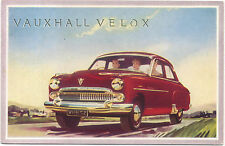 Vauxhall Velox Model E factory issued postcard