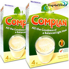 2x Complan Vanilla Nutrition Vitamin Supplement Protein Energy Drink 4x55g