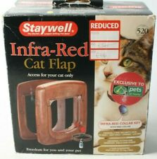 STAYWELL infrared cat flap woodgrain with infra red collar key.
