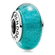 NEW Pandora Jasmine's Color Disney Bead Charm, 791648 murano green glass  glow