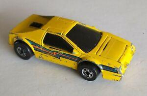 Vintage 1983 Hot Wheels Crack-Ups BASHER Yellow Cruiser Hong Kong Die-cast Car