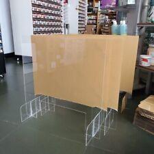 SNEEZE GUARD Acrylic Plexiglass Table Desk Counter Shield 30w x 24h