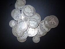 3 Barber 90% Silver Coins Dime Quarter Half Dollar 1892-1916 Vintage Hoard
