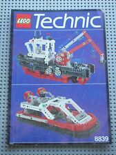 Notice Building instruction booklet LEGO TECHNIC vintage set 8839  Supply Ship