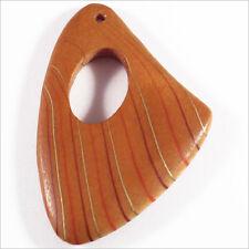 Lot de 2 Pendentifs en Bois 40 x 55 mm Marron pour Colliers Boucles d'oreilles