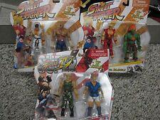 Capcom Street Fighter V.S. Sets Action Figures Ryn Sagat Ken Blanka Guile Abel