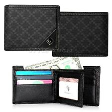 Men's Wallet Bifold Cowhide & Synthetic Leather Slim Pocket Credit Card Purse