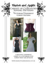 Victorian steampunk /gothic Underbust Corset PAPER SEWING PATTERN large