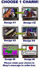 California Chrome Custom Italian Charm, Triple Crown! Horse Racing