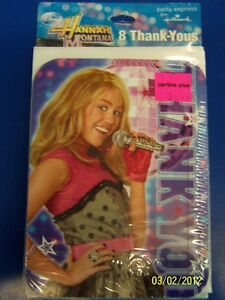 Hannah Montana Rock Stage Pop Star Birthday Party Thank You Notes w/Envelopes