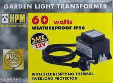 12V 60W Weatherproof Garden Light Transformer