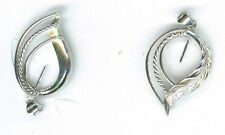 LARGE FEATHER (#1) STERLING SILVER BEAD OR PEARL-MOUNT PENDANT BAIL