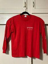 VTG 80s Hef T CSU Northridge Bikesport Triathlon L/S T Shirt Red USA L
