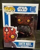 Rare Vaulted Star Wars Sith Darth Maul Funko Pop Figure #09