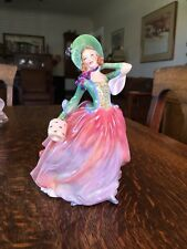 VERY RARE Royal Doulton Autumn Breezes, HN1911 Floral Dress 2-footed Excellent!