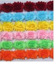 Flower Lace Trim - Frayed Chiffon Rose - Shabby Chic Bridal Flowers 1 YARD &more