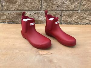 Hunter Original Chelsea Rain Boot , Military red , Sz US 10