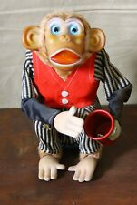 Vintage Battery operated toy Cragstan Crap Shooting Monkey Works