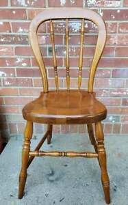 Tell City Hard Rock Maple Dining Chair Petite Andover Finish #1