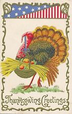 THANKSGIVING – Turkey, Wheat, Stars and Stripes