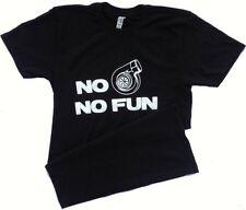 No turbo no fun tshirt turbo charger boost racing car mens medium tshirt