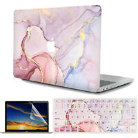 """Marbled Matte Hardshell Case for MacBook Pro Air 13""""A1466 A2179 A2159 A2289 #910"""