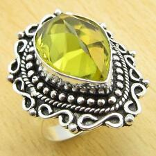 GIFT To Grandchild !! 925 Silver Plated LEMON QUARTZ Ring Size US 9 ONLINE STORE