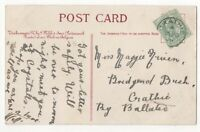 Crathie [A] 28 Nov 1906 Single Ring Postmark Aberdeenshire Scotland 165c